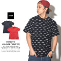 HUF ハフ 半袖Tシャツ DOMESTIC ALLOVER PRINT TEE TS00223 7V7229
