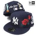 NEW ERA ニューエラ ベースボールキャップ 59FIFTY スーベニア ニューヨーク・ヤンキース ネイビー×ホワイト (11557539)
