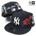 NEW ERA ニューエラ ベースボールキャップ 59FIFTY スーベニア ニューヨーク・ヤンキース ブラック×ホワイト (11557540)