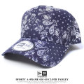 NEW ERA ニューエラ カーブバイザーキャップ メンズ 帽子 9FORTY A-FRAME 60/40 CLOTH PAISLEY ネイビー (11557418)