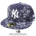 NEW ERA ニューエラ ベースボールキャップ メンズ 帽子 59FIFTY 60/40 CLOTH PAISLEY ニューヨーク・ヤンキース ネイビー (11557579)