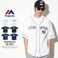 MAJESTIC マジェスティック ベースボールシャツ NEWYORK 03 BB SHIRT (MM21-NYK-8S05)