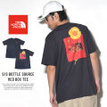 THE NORTH FACE ザ・ノースフェイス 半袖Tシャツ S/S BOTTLE SOURCE RED BOX TEE ウェザードブラック (NF0A34YRZLY)