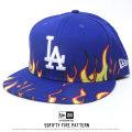 NEW ERA ニューエラ ベースボールキャップ 59FIFTY ファイアーパターン ロサンゼルス・ドジャース ロイヤル×ホワイト (11557600)