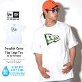 NEW ERA ニューエラ 半袖Tシャツ 吸汗速乾 PERFORMANCE TEE スウェディッシュカモ グリーン フラッグロゴ ホワイト (11556699)