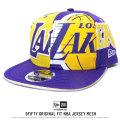 NEW ERA ニューエラ スナップバックキャップ 9FIFTY ORIGINAL FIT NBA ジャージメッシュ ロサンゼルス・レイカーズ (11557230)
