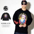 DGK ディージーケー 長袖Tシャツ BLESSING L/S TEE ブラック DLS-355