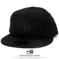 NEW ERA ニューエラ フラットバイザーキャップ 9FIFTY ダックキャンバス ニューヨーク・ヤンキース ブラック×ブラック 11781371