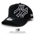 NEW ERA ニューエラ カーブバイザーキャップ 9FORTY Aフレーム バタリオン ニューヨーク・ヤンキース ブラック×スノーホワイト 11781459