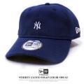NEW ERA ニューエラ カーブバイザーキャップ 9THIRTY カラースウェット ニューヨーク・ヤンキース ミニロゴ ネイビー×スノーホワイト 11781540