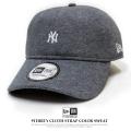 NEW ERA ニューエラ カーブバイザーキャップ 9THIRTY カラースウェット ニューヨーク・ヤンキース ミニロゴ チャコールグレー×スノーホワイト 11781541