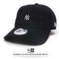 NEW ERA ニューエラ カーブバイザーキャップ 9THIRTY カラースウェット ニューヨーク・ヤンキース ミニロゴ ブラック×スノーホワイト 11781542