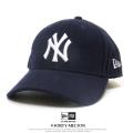 NEW ERA ニューエラ カーブバイザーキャップ 9FORTY メルトン ニューヨーク・ヤンキース ネイビー×ホワイト 11781417