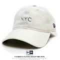NEW ERA ニューエラ カーブバイザーキャップ 9THIRTY クロスストラップ メルトン NYC オフホワイト×ブラック 11781554