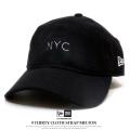 NEW ERA ニューエラ カーブバイザーキャップ 9THIRTY クロスストラップ メルトン NYC ブラック×ホワイト 11781559
