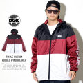 DGK ディージーケー ウィンドブレーカー TRIPLE CUSTOM HOODED WINDBREAKER BURGUNDY CJL-1002