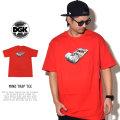 DGK ディージーケー 半袖Tシャツ MIND TRAP TEE RED PTM-1077