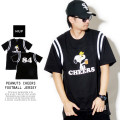 HUF ハフ フットボールシャツ PEANUTS CHEERS FOOTBALL JERSEY KN00094