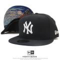 NEW ERA ニューエラ フラットバイザーキャップ 9FIFTY 浮世絵 葛飾北斎 凱風快晴 ニューヨーク・ヤンキース ブラック×ホワイト 11916008