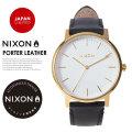 NIXON ニクソン 腕時計 リストウォッチ メンズ PORTER LEATHER GOLD/BLACK JPN (A10582523)