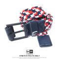 NEW ERA ニューエラ ストレッチウィーブベルト メンズ STRETCH WEAVE BELT ネイビー/ホワイト/レッド (11556672)