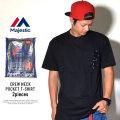 MAJESTIC マジェスティック 半袖ポケットTシャツ パックT 2枚セット 2PAC POCKET TEE ブラック (CM07-MC-S002-BK)