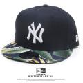 NEW ERA ニューエラ フラットバイザーキャップ 9FIFTY ボタニカル ニューヨーク・ヤンキース ネイビー × ホワイト ネイビーボタニカルバイザー 11901187