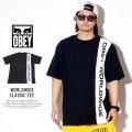 OBEY オベイ 半袖Tシャツ WORLDWIDE CLASSIC TEE 131080237