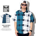 OBEY オベイ 半袖シャツ POST PATCHED WOVEN SS 181210241