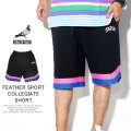 STAPLE ステイプル ハーフパンツ FEATHER SPORT COLLEGIATE SHORT 1904B5408