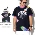 STAPLE ステイプル 半袖Tシャツ FEATHER SPORT COLLEGIATE TEE 1904C5409