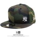 NEW ERA ニューエラ フラットバイザーキャップ 9FIFTY ニューヨーク・ヤンキース フローレス ウッドランドカモ × ホワイト 12028761