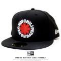 NEW ERA ニューエラ フラットバイザーキャップ 59FIFTY Red Hot Chili Peppers ロゴ ブラック 12123605
