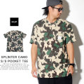 HUF ハフ 半袖Tシャツ SPLINTER CAMO S/S POCKET TEE TS00792