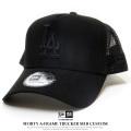 NEW ERA ニューエラ メッシュキャップ 9FORTY A-Frame トラッカー MLBカスタム ロサンゼルス・ドジャース ブラック 12119345