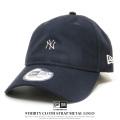 NEW ERA ニューエラ カーブバイザーキャップ 9THIRTY クロスストラップ メタルロゴ ニューヨーク・ヤンキース ネイビー 12119364