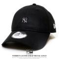 NEW ERA ニューエラ カーブバイザーキャップ 9THIRTY クロスストラップ メタルロゴ ニューヨーク・ヤンキース ブラック/ホワイト 12119365