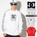 DC SHOES ディーシーシューズ ロンT 長袖 Tシャツ メンズ ロゴ サイドライン スケボー スケーター ファッション 5425J838 服 通販 DCTT049
