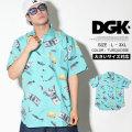 DGK ディージーケー 半袖シャツ メンズ 大きいサイズ ストリート系 スケーター ヒップホップ ファッション Festive Woven Shirt DSS-298 DGOT013