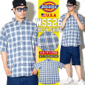DICKIES ディッキーズ 半袖シャツ メンズ 大きいサイズ チェック柄 WS526 DKOT016