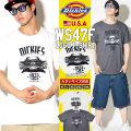 DICKIES ディッキーズ Tシャツ メンズ 半袖 大きいサイズ アメ車 キャデラック WS47F DKTT005