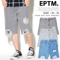 EPTM エピトミ デニムショーツ ハーフパンツ ダメージ加工 EPDT003