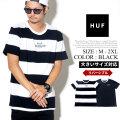 HUF ハフ リバーシブル 半袖 Tシャツ メンズ ボーダー柄 スケーター ストリート系 ファッション 服 通販 KN00060 FHTT023