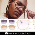 THE GOLD GODS ザ・ゴールドゴッズ サングラス 18金コーティング カラーレンズ ブリンブリン ストリート系 ヒップホップ ファッション APOLLO GGAT001