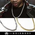 THE GOLD GODS ザ・ゴールドゴッズ ネックレス 18金コーティング 4mm ブリンブリン ストリート系 ヒップホップ ファッション 3PRONGED-4MM GGAT005