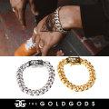 THE GOLD GODS ザ・ゴールドゴッズ ブレスレット 18金コーティング 10mm ブリンブリン ストリート系 ヒップホップ ファッション DCB-10MM GGAT007
