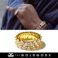 THE GOLD GODS ザ・ゴールドゴッズ 指輪 リング 18金コーティング ブリンブリン ストリート系 ヒップホップ ファッション DR-DER GGAT009