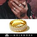THE GOLD GODS ザ・ゴールドゴッズ 指輪 リング 18金コーティング ブリンブリン ストリート系 ヒップホップ ファッション DR-3RDRR GGAT010