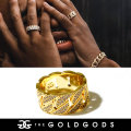 THE GOLD GODS ザ・ゴールドゴッズ 指輪 リング 18金コーティング ブリンブリン ストリート系 ヒップホップ ファッション DR-DCR GGAT011