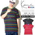 KARL KANI カールカナイ 半袖Tシャツ メンズ 大きいサイズ ボーダー柄 HIPHOP ヒップホップ b系 ファッション KK1725 KATT005